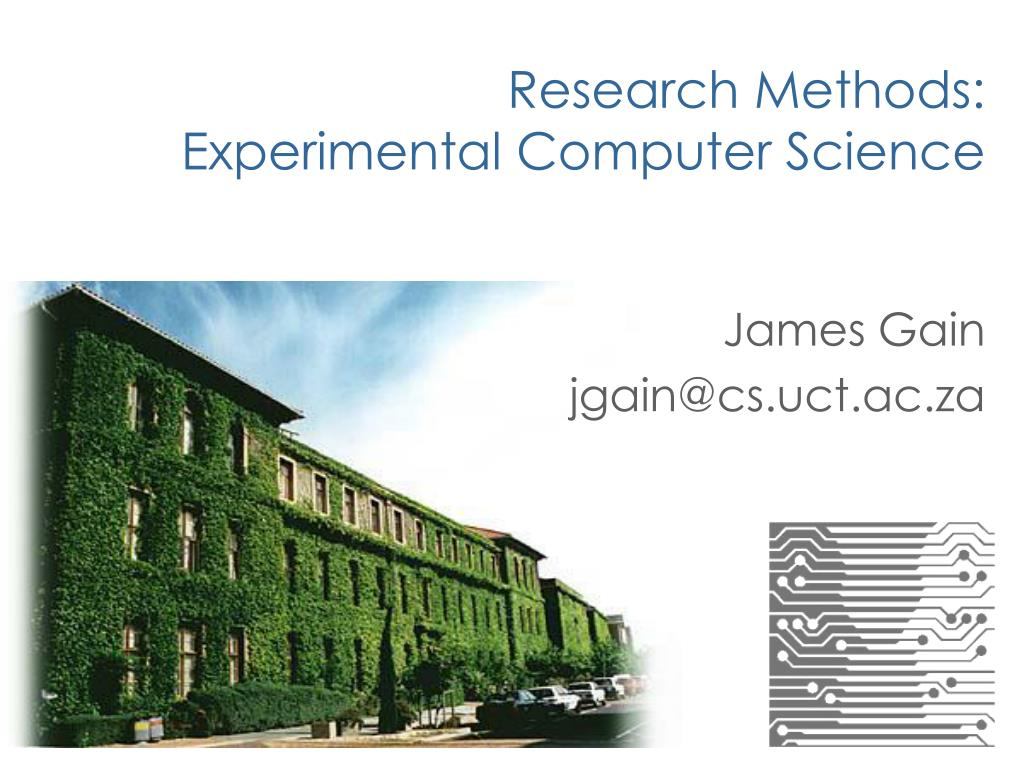 research methods experimental computer science l.