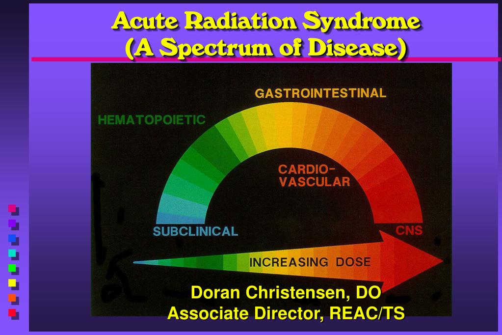 acute radiation syndrome a spectrum of disease l.