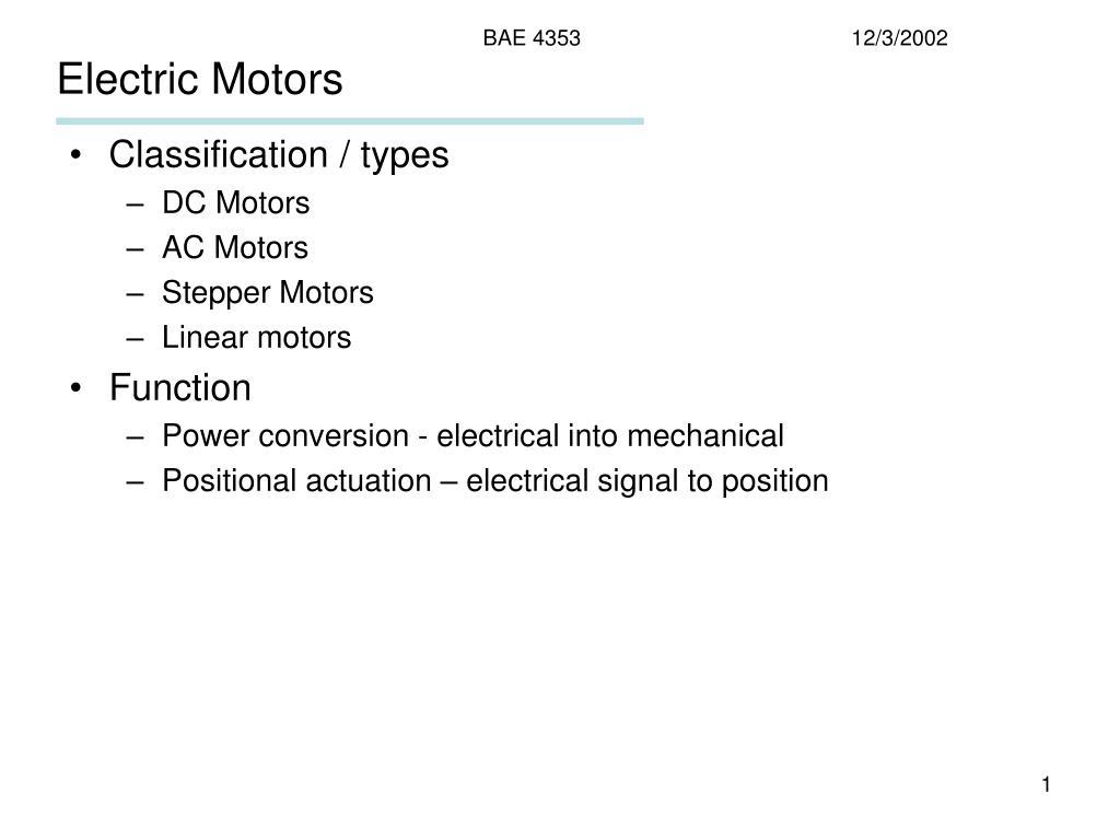 electric motors l.