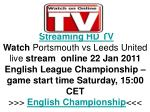 Portsmouth vs Leeds United live FLC Hq Tv Streaming