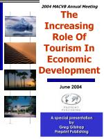 2004 MACVB Annual Meeting The Increasing Role Of Tourism In Economic Development