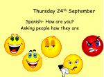 Thursday 24 th  September