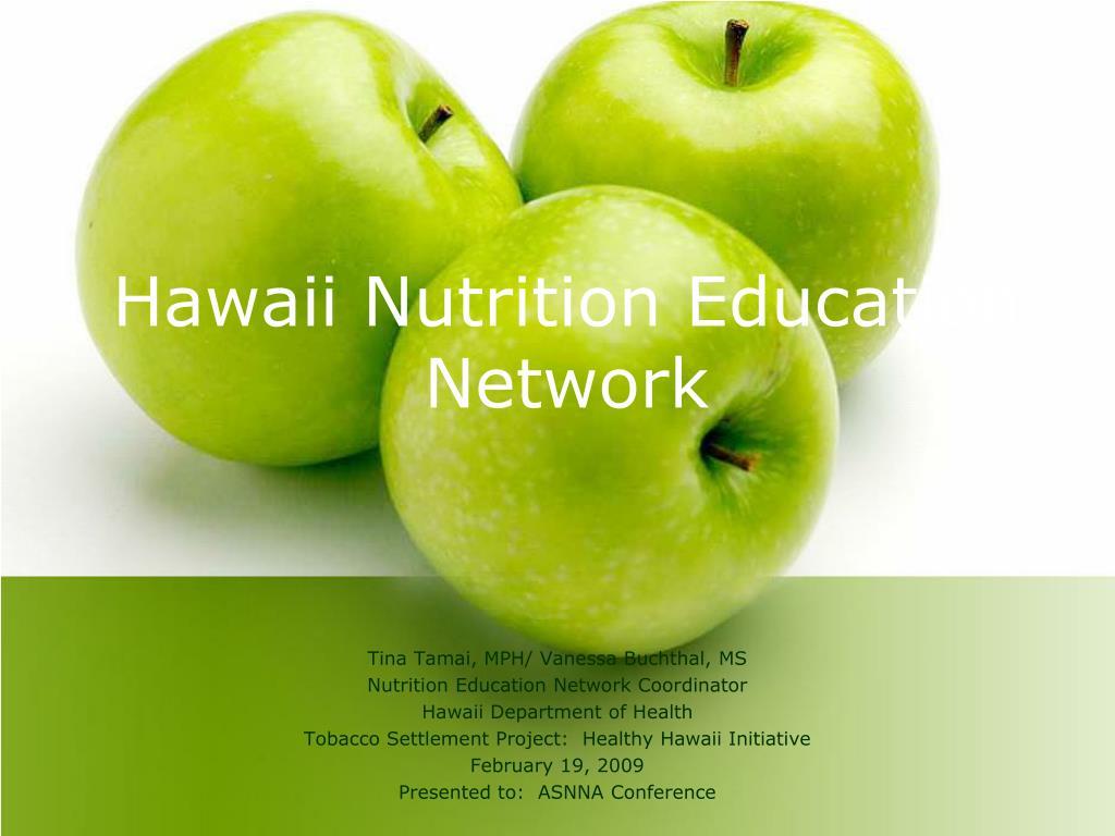 hawaii nutrition education network l.