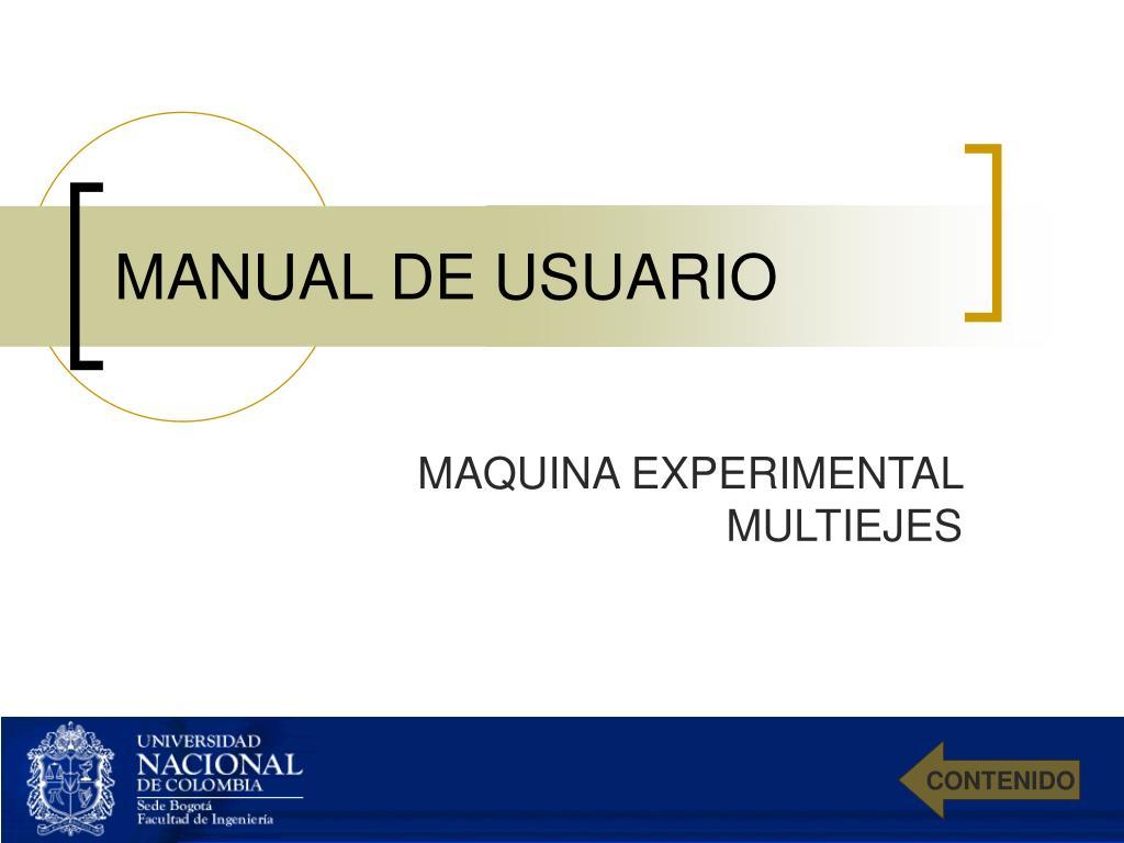 manual de usuario l.
