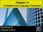 Chapter 11 Compilers and Language Translation