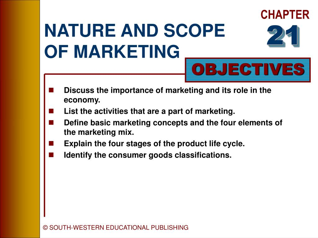 nature and scope of marketing l.