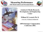 Measuring Performance - S&T Reinvention Lab Personnel Demo -