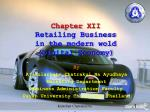 Chapter  XII Retailing Business in the modern wold (Digital Economy)