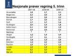 Nasjonale prøver regning 5. trinn