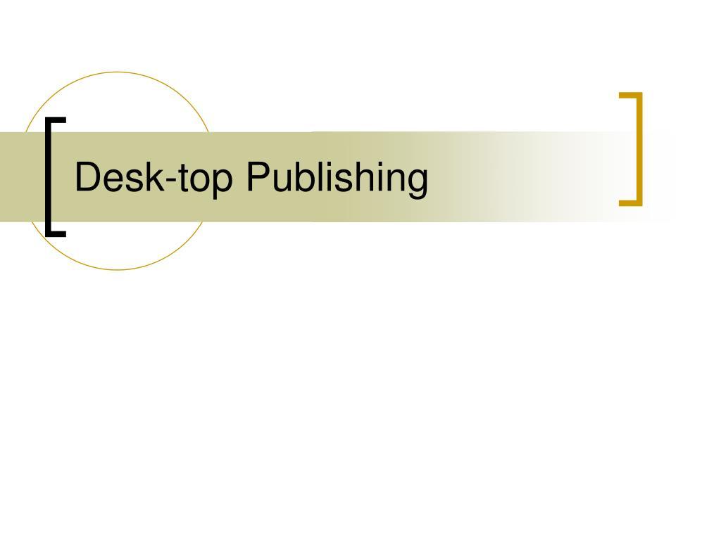 desk top publishing l.