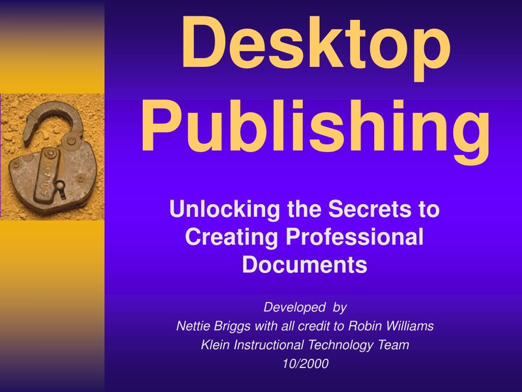 desktop publishing l.