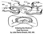 Entering the World of  Deaf Survivors by Julie Rems-Smario, MS, MA