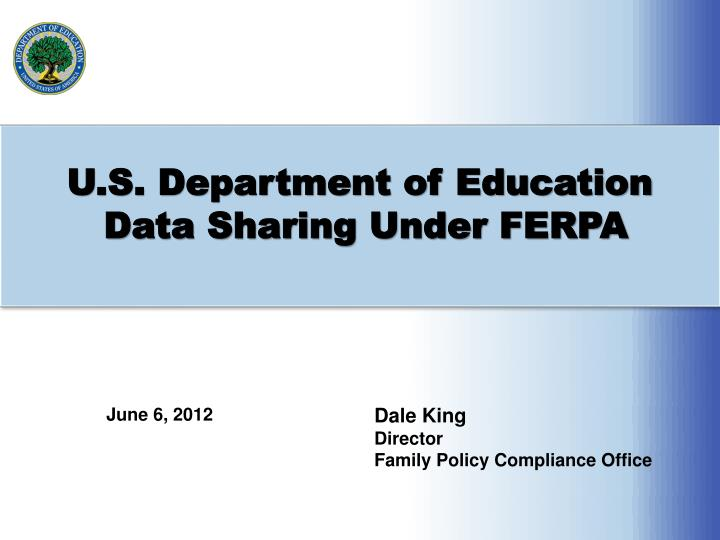 u s department of education data sharing under ferpa n.