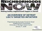 Detroit LISC's Neighborhoods NOW Campaign