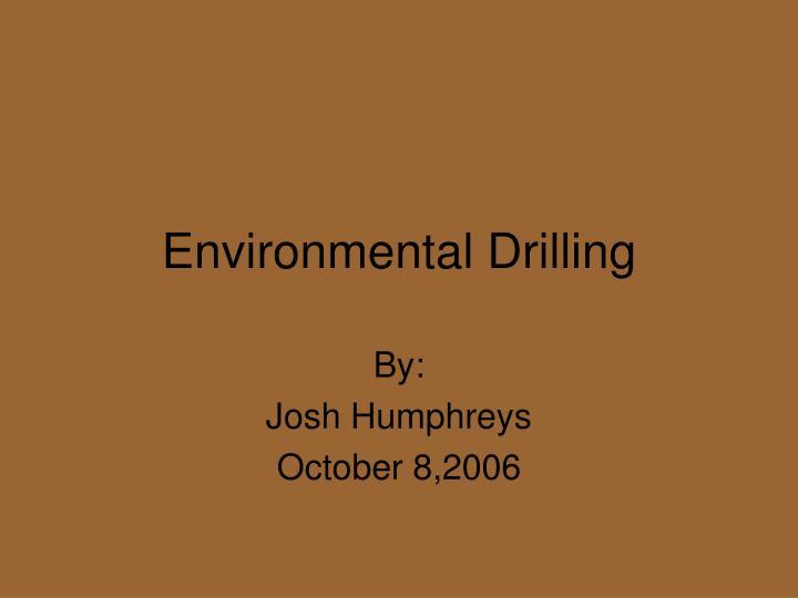 environmental drilling n.