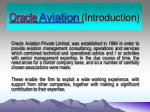 Oracle  Aviation (Introduction)