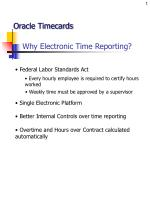 Why Electronic Time Reporting?