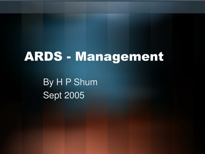 ards management n.