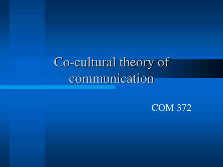 co cultural theory of communication n.