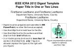 IEEE ICRA 2012 Digest Template Paper Title in One or Two Lines