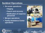 Incident Operations