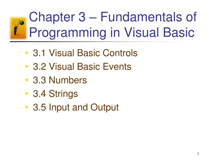 chapter 3 fundamentals of programming in visual basic n.