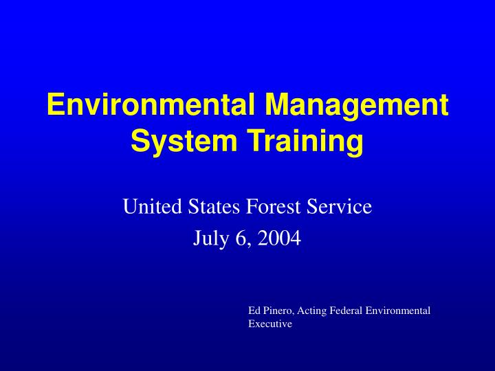 environmental management system training n.