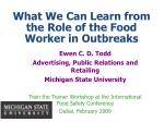 Ewen C. D. Todd Advertising, Public Relations and Retailing Michigan State University Train the Trainer Workshop at the