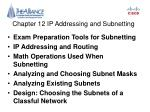 Chapter 12 IP Addressing and Subnetting