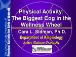 Physical Activity: The Biggest Cog in the Wellness Wheel