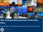 The National Infrastructure Protection Plan: Establishing a Risk-Based Approach to Resource Allocation