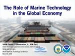 The Role of Marine Technology in the Global Economy