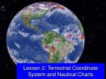 Lesson 2: Terrestrial Coordinate System and Nautical Charts