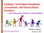 Linking Curriculum Standards, Assessment, and Instructional Practices