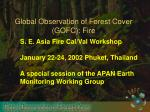 Global Observation of Forest Cover (GOFC): Fire