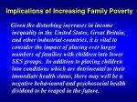 Implications of Increasing Family Poverty