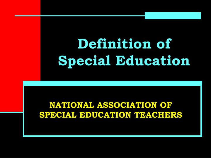 definition of special education n.