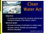 The Federal Water Pollution Control Act of 1948