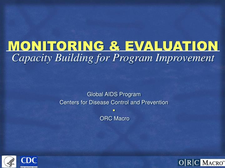 monitoring evaluation n.