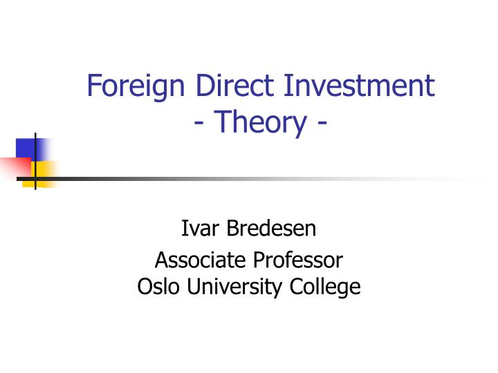 foreign direct investment theory n.