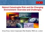Natural Catastrophe Risk and the Changing Environment: Overview and Challenges