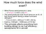 How much force does the wind exert?