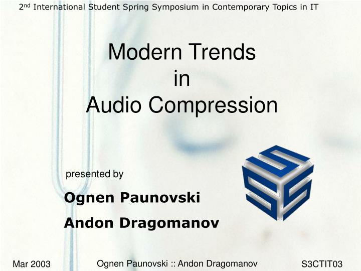 modern trends in audio compression n.