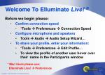 Welcome To Elluminate Live! ®