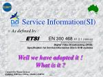 Service Information(SI)