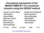 Uncertainty assessment of the IMAGE/TIMER B1 CO 2  emissions scenario using the NUSAP method