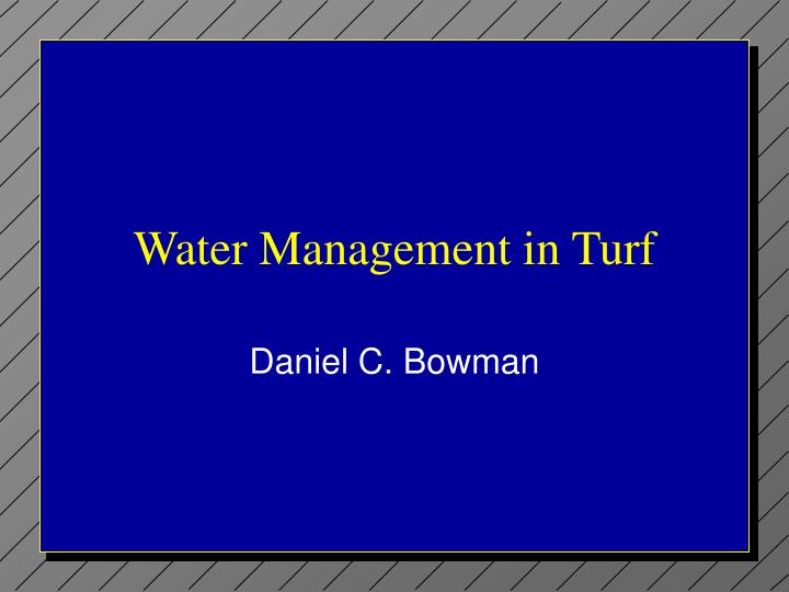water management in turf n.