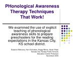 PHonological Awareness Therapy Techniques That Work!