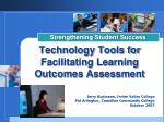 Technology Tools for Facilitating Learning Outcomes Assessment