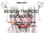 BENIGN THYROID DISORDERS